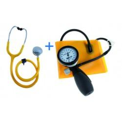 KIT DE TENSIOMÈTRE ADULTE STÉTHOSCOPE CLINIC MANOPOIRE