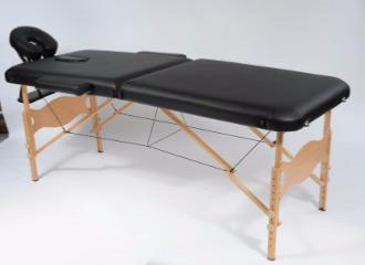 Table De Massage Pliante Bois 3 Zones Table Kine Noire